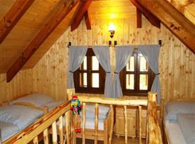 Mlýn - ložnice v podkroví