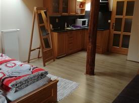 Pohled na kuchyňský kout v apartmánu
