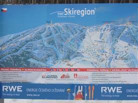 Mapa Klínovec - Fichtelberg