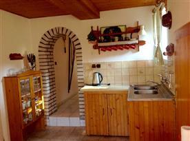 Průchod z kuchyně na terasu