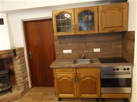 Pohled na kuchyň. kout ve společenské místnosti č.1