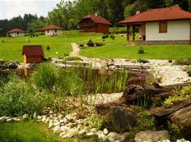 Upravený areál rekreačního střediska
