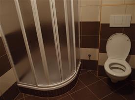 Koupelna s toaletou a sprchou