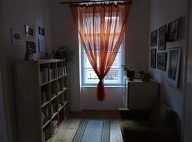 Knihovnička v malé ložnici