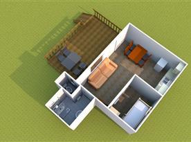 Půdorys apartmánu