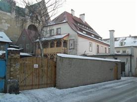 Pohled na apartmány v zimě