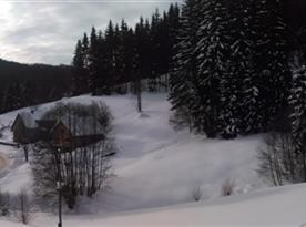 Zimní panorama z terasy