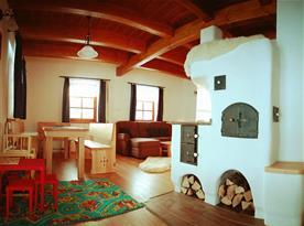 Společenská místnost s pecí