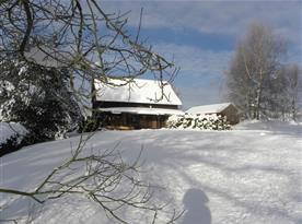 Chata Western v zimě