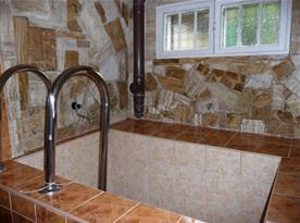 Chladící bazének po použití sauny