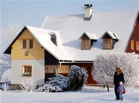 Celkový pohled na objekt v zimním období