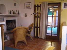 vchod z verandy do apartmánu
