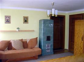 Kachlová kamna v apartmánu