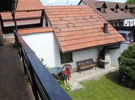 Chata Lucie - výhled z terasy