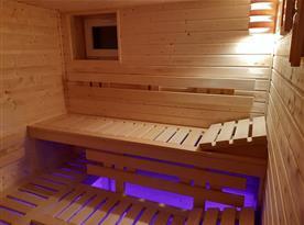 Finská sauna v suterénu