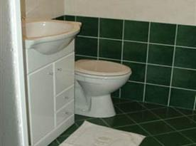 Koupelna - sprchový kout, umyvadlo, toaleta