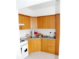 Vybavená kuchyně se sporákem, troubou, lednicí a mikrovlnnou troubou