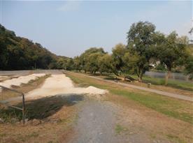 BMX dráha v Nižboru u řeky Berounky