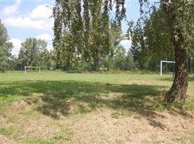 Hřiště na fotbal v obci