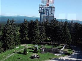 Výhled z rozhledny v Auersbergu