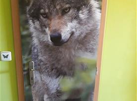 Vlk je symbolem chaty