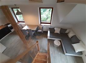 Apartmán Západ - obývací pokoj s jídelnou