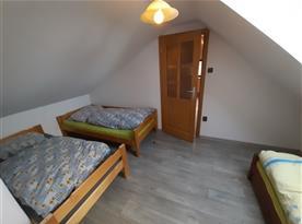 Apartmán Západ - ložnice v podkroví