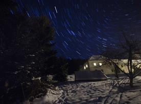 Penzion Vinický dvůr v zimě