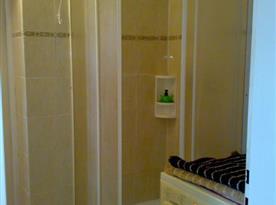 Pohled na sprchovací kout