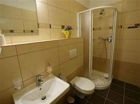 """Koupelna se sprchovým koutem - pokoj """"Úl"""""""