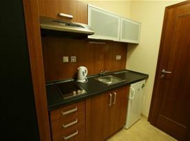 """Vybavená kuchyňka v apartmánech a pokojích """"Úl"""""""