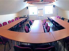 Školící místnost v penzionu