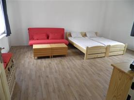 Apartmán A Přízemí - Pokoj s lůžky a rozkládacím gaučem