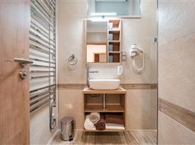 Velký apartmán v hlavní budově-koupelna se sprchou