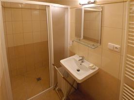 Koupelna se sprchovým koutem a vyhřívanou podlahou