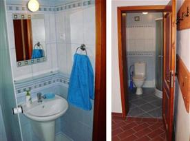 Apartmán v přízemí - koupelna se sprchovým koutem a toaletou