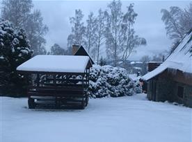 Venkovní posezení v zimě