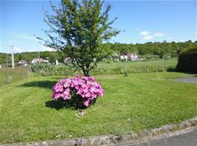 Pohled ze zahrady na vinné sklípky