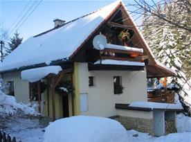 Chalupa Pluskoveček v zimě