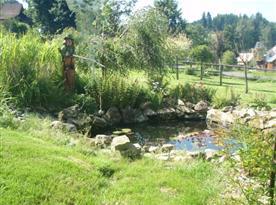 Pohled na jezírko na zahradě