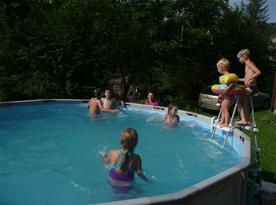 pohled na bazén