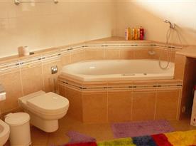 Koupelna v přízemí s vířivou vanou