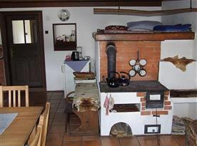 Obytná kuchyně s pecí