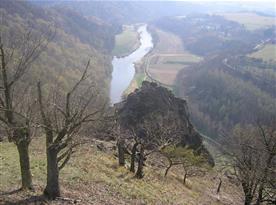 údolí Berounky pod Týřovickou skálou