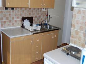 Kuchyně v apartmánu A
