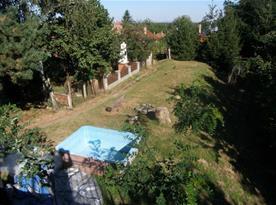 Výhled z terasy na dětský bazének