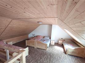 Apartmán č. 1 - ložnice v podkroví
