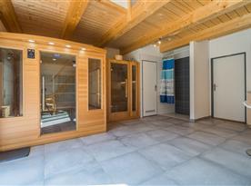 Finská sauna, infra sauna a sprchový kout