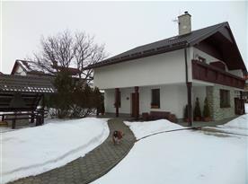 Rekreační dům v zimě