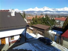 Pohled na zasněžené Tatry